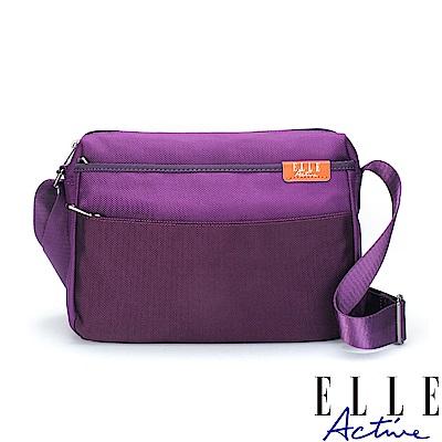 ELLE Active 砌石大街系列-側背包/斜背包-紫色