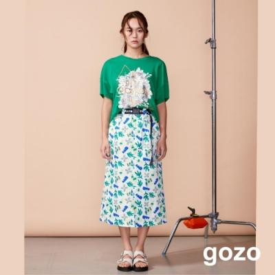 gozo 設計插畫印花飛鼠造型上衣(二色)