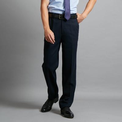 ROBERTA諾貝達 職場紳士 辦公型男厚西裝褲 藍黑