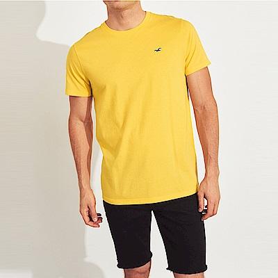 海鷗 Hollister HCO 經典刺繡標誌圓領素面短袖T恤-黃色