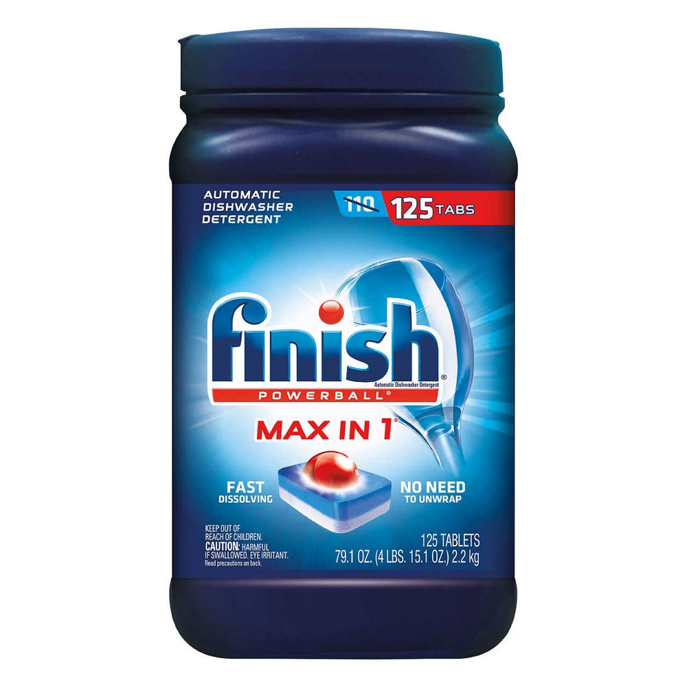 美國 FINISH 強效洗碗碇125入/2.2kg