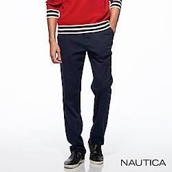 Nautica彈性修身保暖休閒長褲-深藍