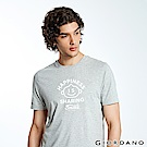 GIORDANO 男裝英文標語印花短袖T恤-22 中花灰