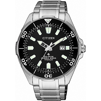 CITIZEN星辰 光動能 鈦200米潛水錶(BN0200-81E)-43.5mm