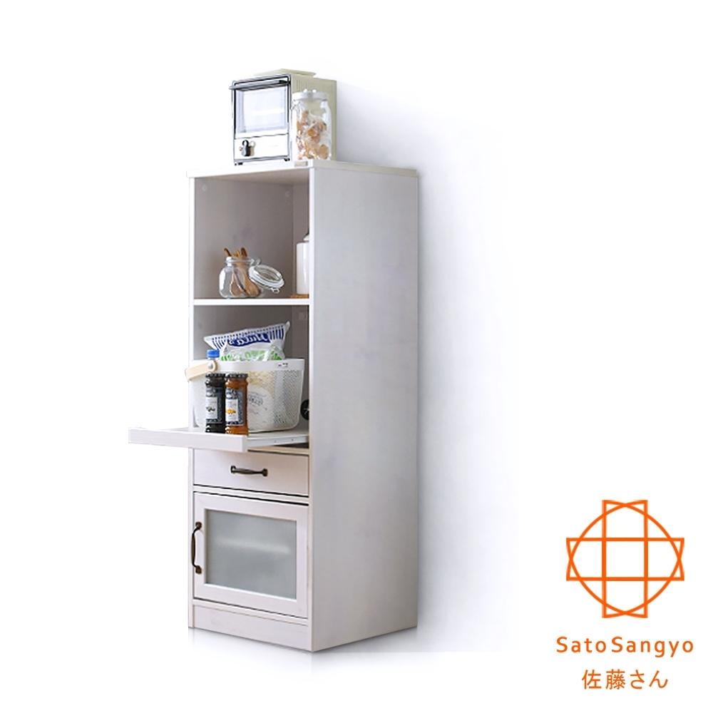 Sato_LUFFY映日浮光單抽單門雙格收納櫃‧幅45CM