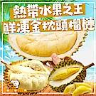 極鮮配  熱帶水果之王-鮮凍金枕頭榴槤X2包 (350g/包,2-4入)