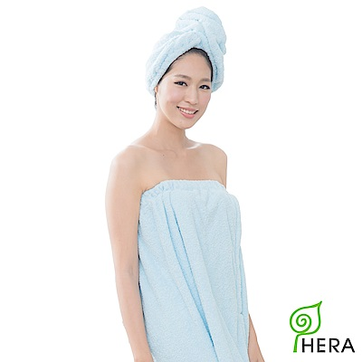 HERA 3M專利瞬吸快乾抗菌超柔纖浴裙-晴空藍
