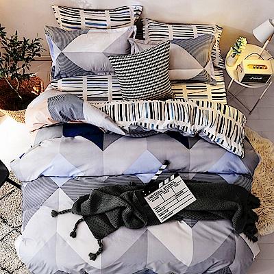 Goelia  加大 親膚棉感活性印染涼被床包組-卡諾