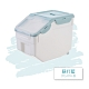 【時時樂】FL生活+獨家-10公斤全密封防蟲防潮儲米桶-送可疊加雜糧桶4入