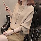 純色蝙蝠袖針織上衣-共4色(F可選)   初色