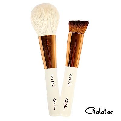 Galatea葛拉蒂 金顏短柄系列 光峰白羊毛腮紅蜜粉刷+粉底拋光刷