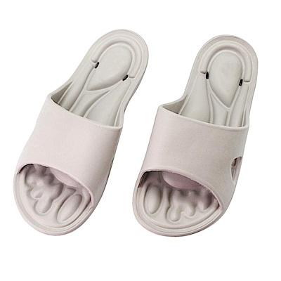 維諾妮卡 強化足弓透氣美學家居拖鞋-灰