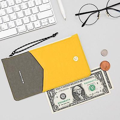 BNTP 雙色護照收納包-陽光黃