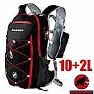長毛象 新款 MTR 141 輕量舒適休閒旅遊後背包10+2L_黑/岩漿紅