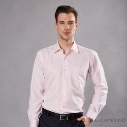 ROBERTA諾貝達 台灣製 吸濕速乾 商務條紋長袖襯衫 粉色