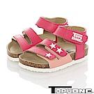 TOPU ONE 輕量減壓吸震腳床型涼鞋童鞋-桃