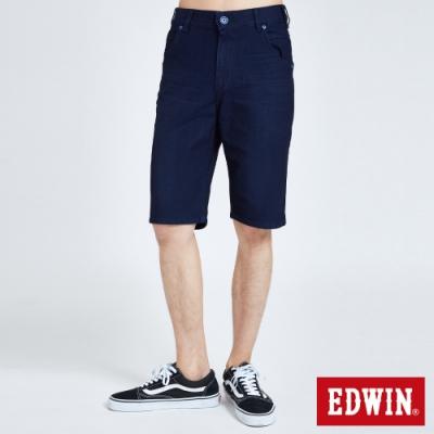 EDWIN JERSEYS 迦績 EJ2中腰合身涼感 牛仔短褲-男-原藍色