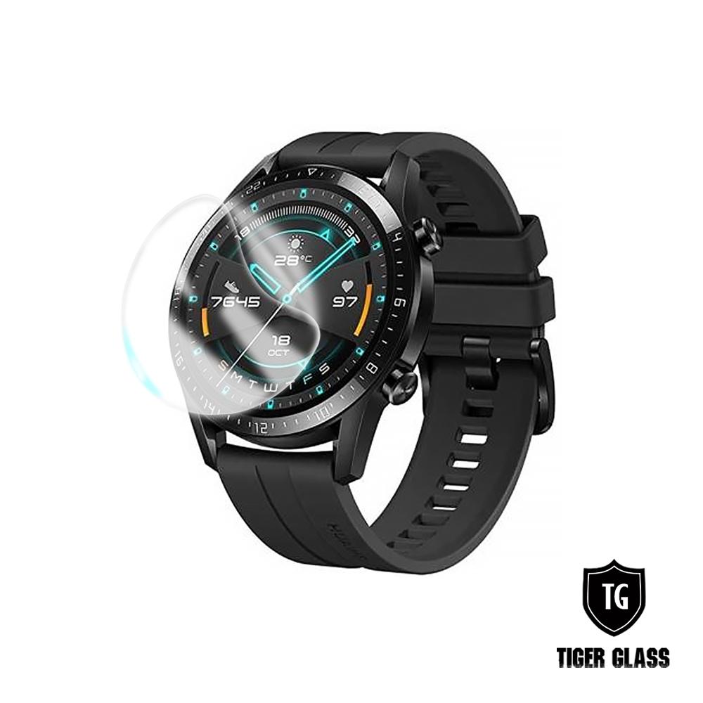 T.G HUAWEI WATCH GT2/GT2e 46mm 高透3D防爆水凝膜螢幕保護貼-滿版(2入)