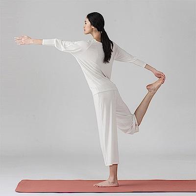 旅途原品_呼吸 原創設計專業運動健身瑜珈休閒套裝-米白