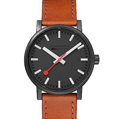 MONDAINE 瑞士國鐵evo2時光走廊腕錶-40mm /黑棕