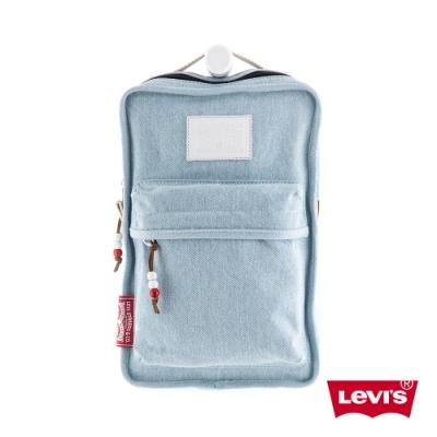 Levis 男女同款 斜肩包 復古水藍 隨身小包