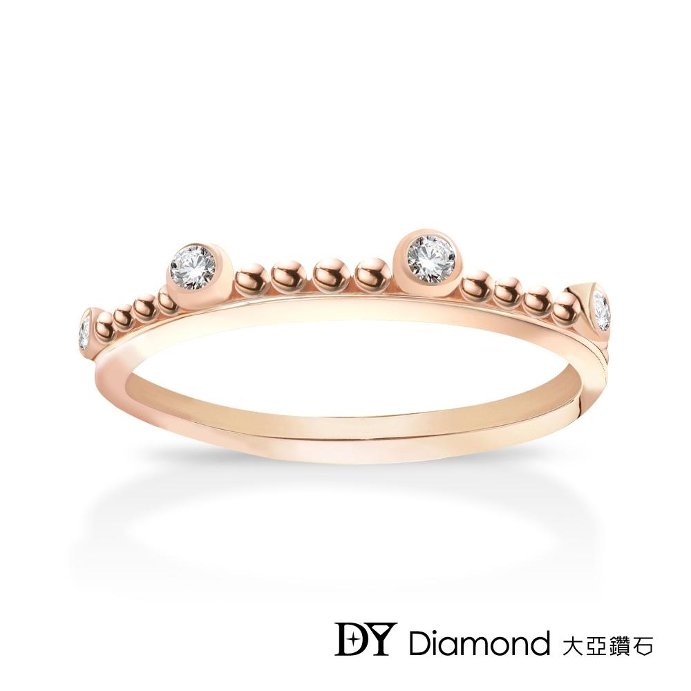 DY Diamond 大亞鑽石 L.Y.A輕珠寶 18K玫瑰金 古典 鑽石線戒