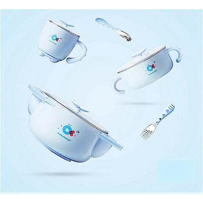 babyhood 不鏽鋼保溫兒童餐具<b>5</b>件組-藍色