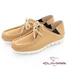 【CUMAR】極簡生活 - 兩穿式綁帶袋鼠休閒鞋-卡其