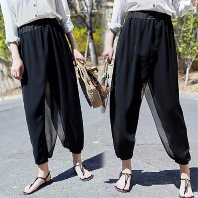 【韓國K.W.】韓國設計百搭柔軟哈倫褲-2色