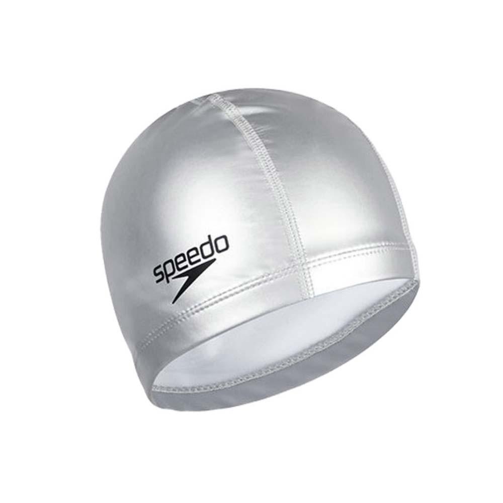 SPEEDO 成人合成泳帽-游泳 戲水 海邊 沙灘 SD8720641731 銀