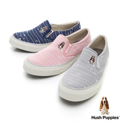 [時時樂限定] Hush Puppies 塗鴉線條咖啡紗休閒便鞋-三色任選