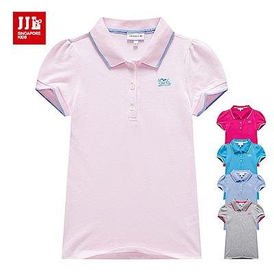 JJLKIDS 小公主袖純棉POLO衫(5色)