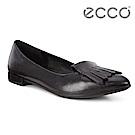 ECCO SHAPE POINTY 流蘇尖頭正裝平底鞋 女-黑