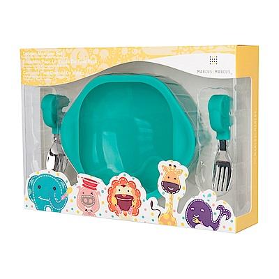 【MARCUS&MARCUS】動物樂園寶寶握握學習禮盒組-大象(綠)