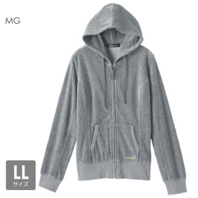 aimerfeel 素色絲絨運動服連帽上衣-混色灰-840274-MG