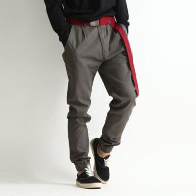 卡其褲休閒長褲束口褲素色斜紋織(3色) ZIP日本男裝