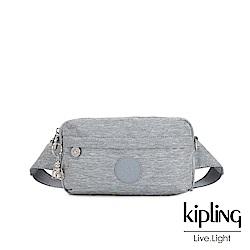 Kipling 極簡風淺灰丹寧方形腰包-HALIMA
