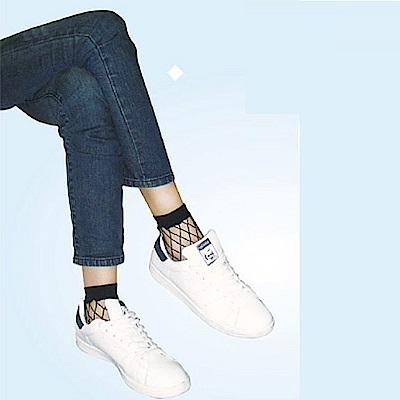 華貴 時尚花網短統彈性網襪-12雙 (MIT)