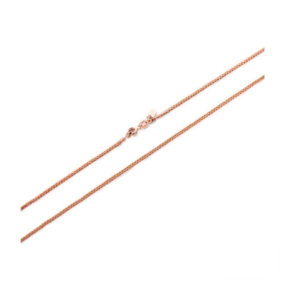 周大福 18K玫瑰金項鍊/素鍊(編織蕭邦鍊-粗款) 16吋