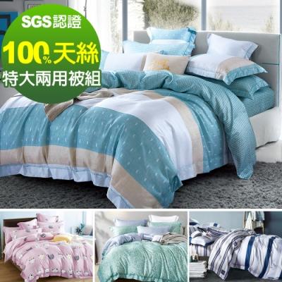 Ania Casa 100%天絲 特大鋪棉兩用被套床包四件組 -多款任選