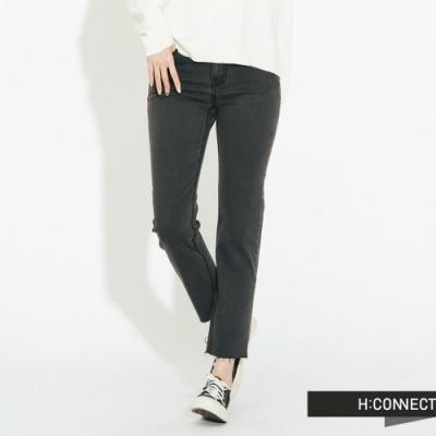 H:CONNECT 韓國品牌 女裝-仿舊不收邊牛仔褲-灰