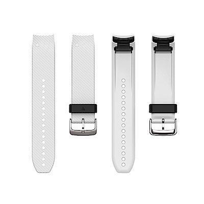 GARMIN Quickfit 22mm 純白色整合型矽膠錶帶