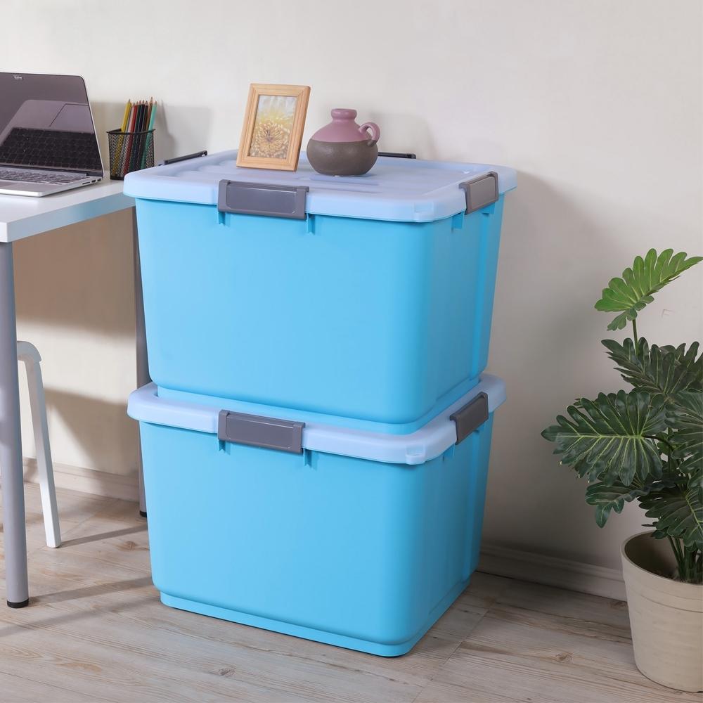 [買一送一]KEYWAY 聯府 繽紛海莉大容量整理箱(90L)