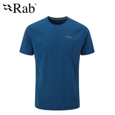 【英國 RAB】Mantle Tee 圓領透氣短袖T恤 男款 夜落藍 #QBL11