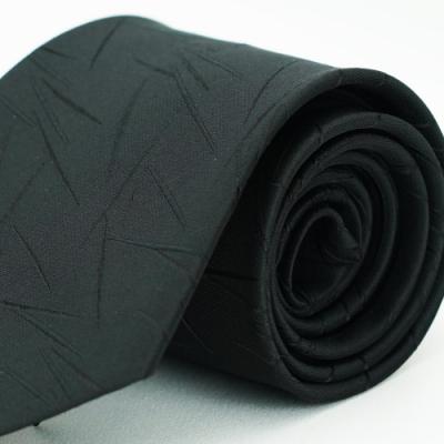 Alpaca 黑色花紋領帶fast