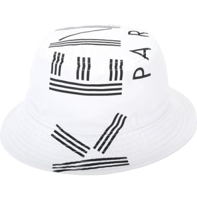 KENZO 品牌幾何LOGO尼龍漁夫帽(白色)