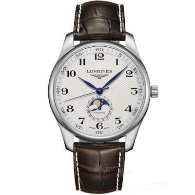 LONGINES 浪琴 Master 巨擘系列月相機械錶-42mm L29194783