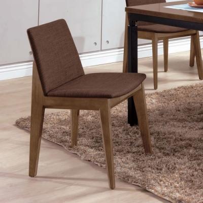 H&D 伊諾克淺胡桃咖啡布餐椅