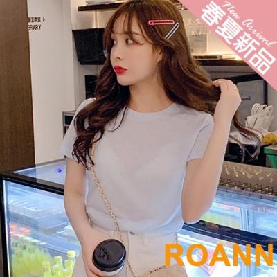 基本款微透圓領短袖T恤 (共三色)-ROANN
