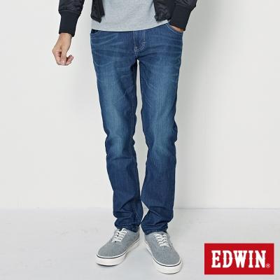 EDWIN AB褲 迦績褲JERSEYS仿紅布邊繡花牛仔褲-男-石洗綠